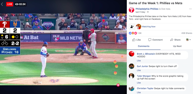 Porn bots have inevitably made their way into MLB Facebook chats, prompting both properties to promise to fix the user experience. (Facebook screenshot)