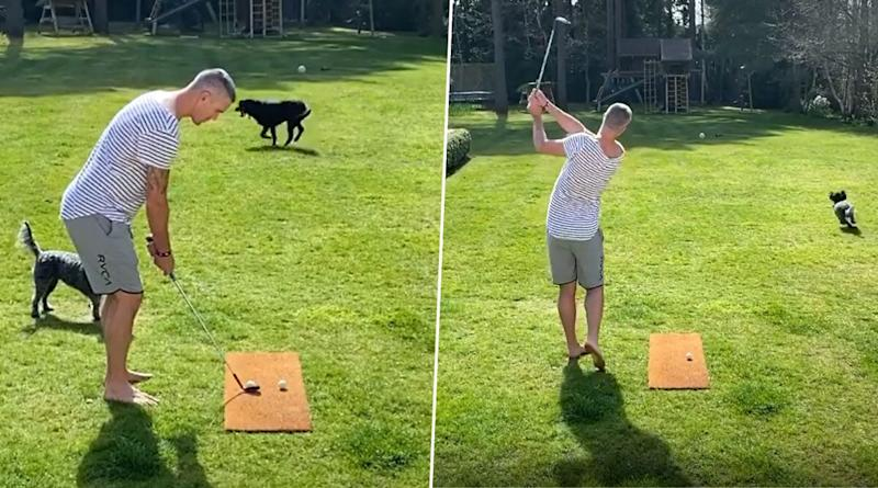 Kevin Pietersen Plays Golf With His Pet Dogs Amid COVID-19 Lockdown (Watch Video)