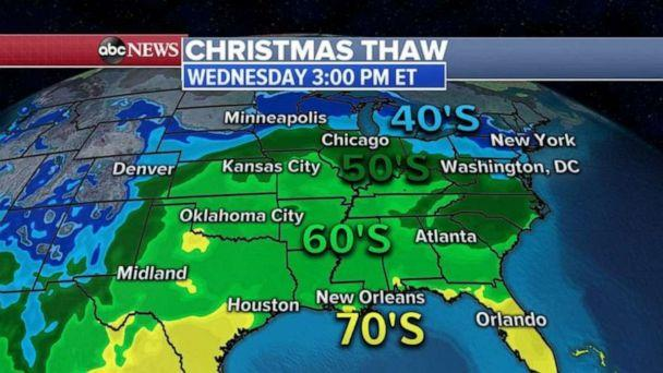 PHOTO: It will be a spring-like Christmas for much of the eastern United States. (ABC News)