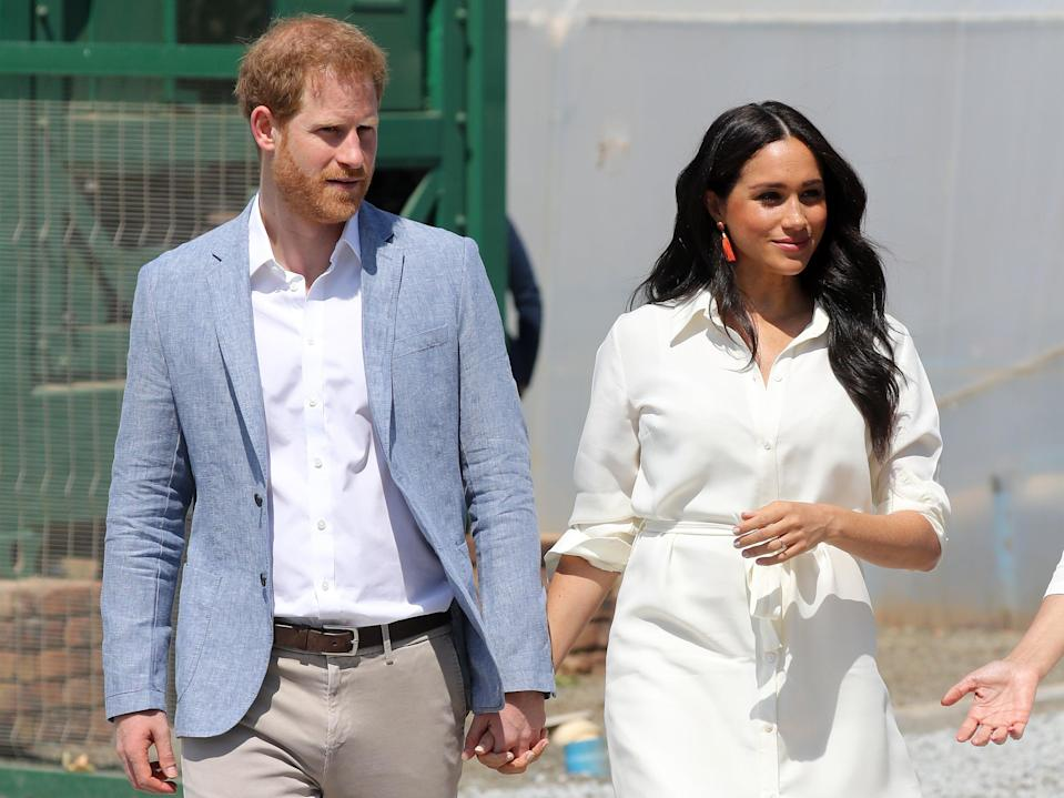 The Duke and Duchess of Sussex in Johannesburg, South Africa (2 October 2019) (Getty Images)
