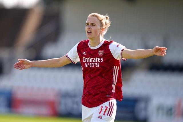 Arsenal striker Vivianne Miedmeda - the all-time leading goalscorer in the Women's Super League - is one of several openly gay women's players.
