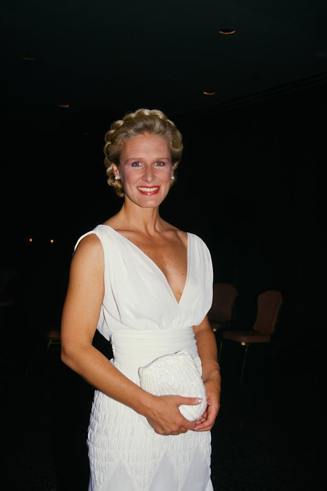 Actress Glenn Close attends the 1987 Tony Awards. Photo courtesy of Getty Images.