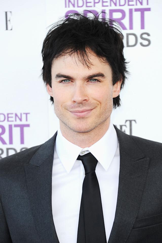 SANTA MONICA, CA - FEBRUARY 25:  Actor Ian Somerhalder arrives at the 2012 Film Independent Spirit Awards on February 25, 2012 in Santa Monica, California.  (Photo by Alberto E. Rodriguez/Getty Images)