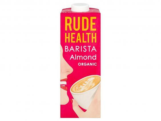 For days at home when you want a coffee-shop quality morning drink, use this almond-based milk (Planet Organic)