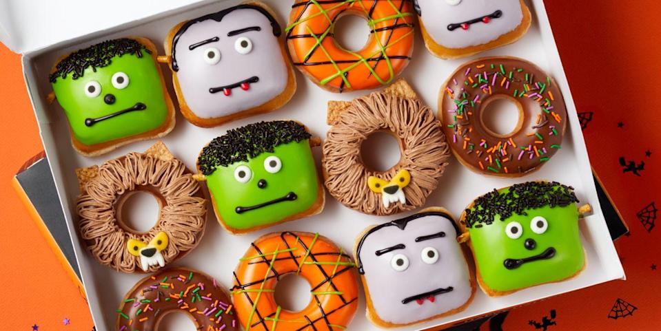 Krispy Kreme Has A Whole Mess Of New Halloween Donuts That Look Like All Your Favorite Monsters