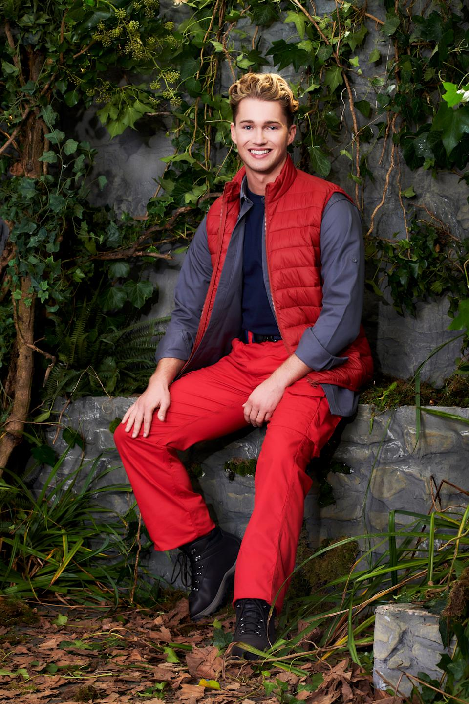 AJ Pritchard is currently in the I'm A Celebrity castle (Photo: ITV)