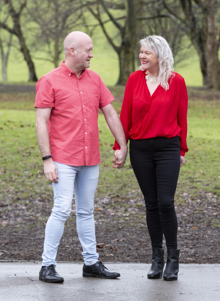 Paul and Lisa Sanderson went on a dramatic weight loss journey after watching themselves in an episode of 'A Place In The Sun'. (SWNS)