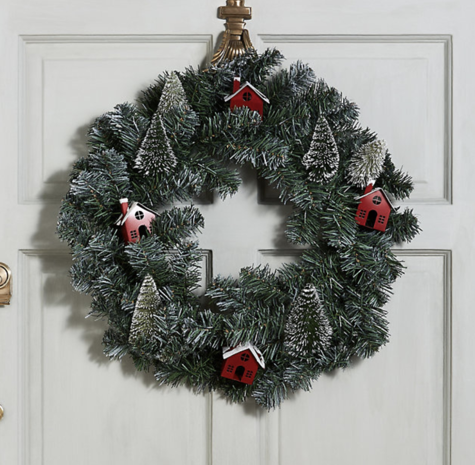 Snow-dusted wreath. (PHOTO: Marks & Spencer)