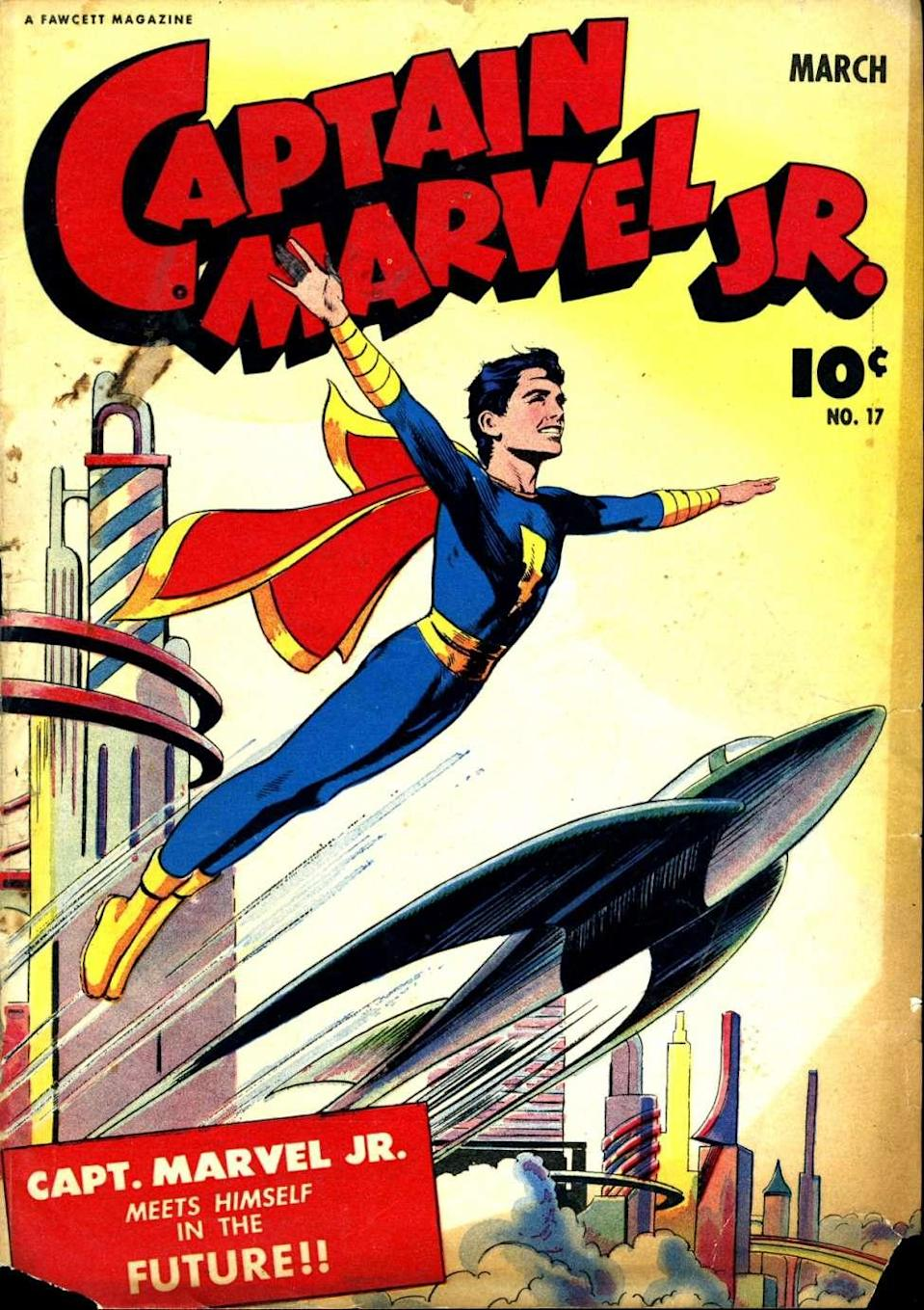 Captain Marvel, Jr. would inspire the look of Elvis Presley. (Photo: DC Comics)