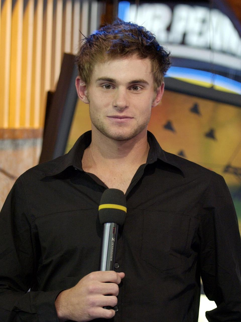 <p>Tennis player Andy Roddick was on the show in 2003.</p>