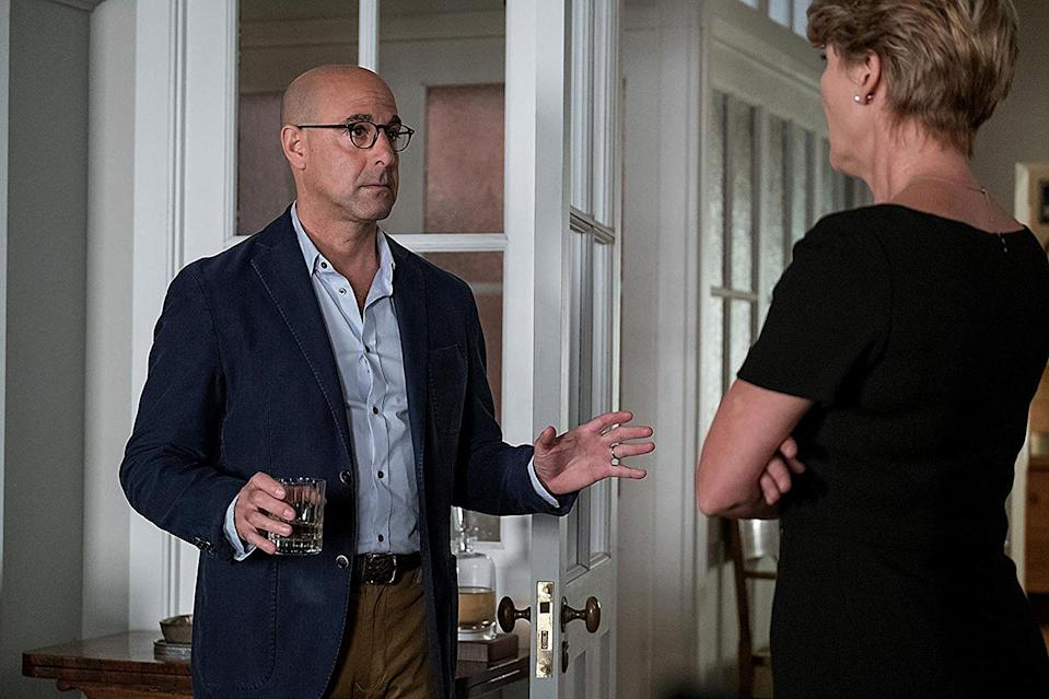 <p>In 2017, Tucci took another serious turn, playing Emma Thompson's estranged husband in the high-stakes drama.</p>
