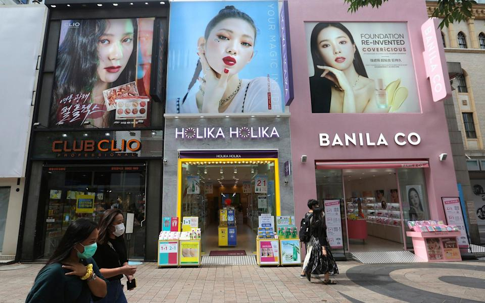 The suspect is accused of secretly filming women on South Korean streets - Ahn Young-joon/AP