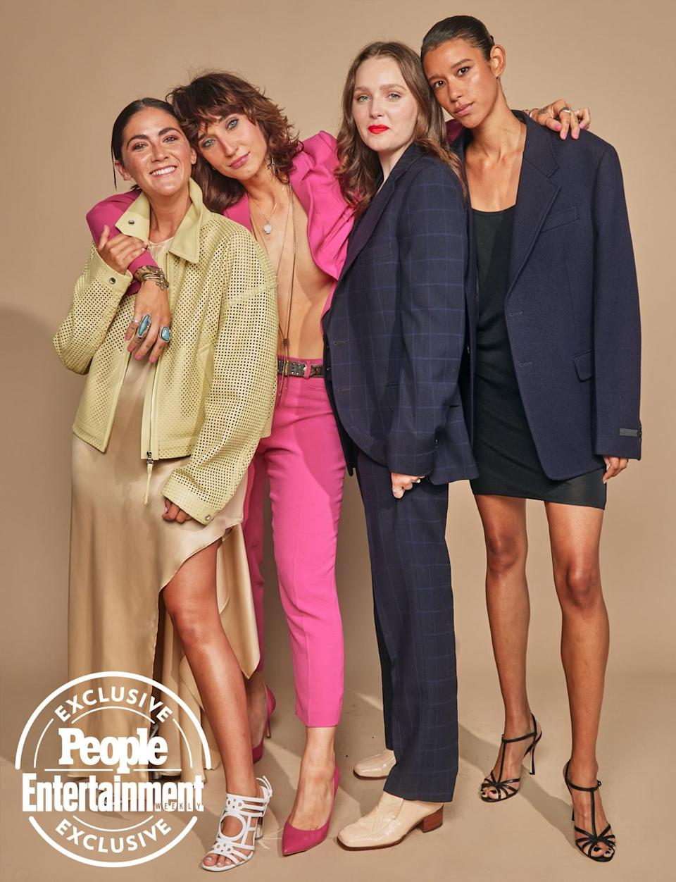 <p>Isabelle Fuhrman, Lauren Hadaway , Amy Forsyth and Dilone </p>