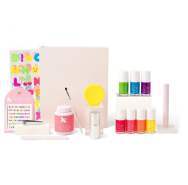 <p>The <span>The Summer Box</span> ($90) comes with all seven shades of the summer collection, the new alphabet sticker collection, the Super Glossy Top Coat, a neon yellow Poppy, nail polish remover, a nail filer, a nail buffer, a nail cutter, cuticle serum, and a clean-up brush.</p>