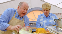 "<p>To make sure a baker isn't eliminated over a faulty oven, the show makes sure that <a href=""https://www.asdagoodliving.co.uk/family/things-to-do/great-british-bake-off-facts"" rel=""nofollow noopener"" target=""_blank"" data-ylk=""slk:each oven is working properly"" class=""link rapid-noclick-resp"">each oven is working properly</a> before a challenge begins. How do they do that? By baking a Victoria Sponge Cake, of course.</p>"