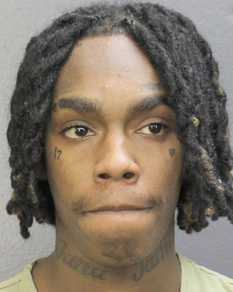 Rapper YNW Melly, real name Jamell Demons, in a police booking photo after being charged with two counts of murder in the first degree in Ft. Lauderdale, Florida, February 13, 2019. (Photo by Broward's Sheriff's Office via Getty Images)