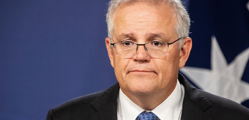 Scott Morrison has given a press conference about the dire situation in India. Source: Getty