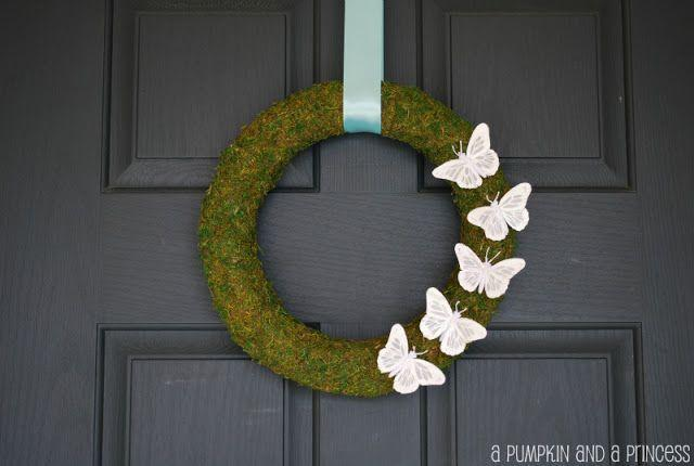 "<p>Delicate but dramatic, this moss wreath draped with pale pink butterflies will be the hit of the neighborhood this summer.</p><p><strong>Get the tutorial at <a href=""https://apumpkinandaprincess.com/spring-moss-wreath/"" rel=""nofollow noopener"" target=""_blank"" data-ylk=""slk:A Princess and a Pumpkin"" class=""link rapid-noclick-resp"">A Princess and a Pumpkin</a>. </strong></p><p><a class=""link rapid-noclick-resp"" href=""https://www.amazon.com/s?k=moss+sheets+for+crafts&i=lawngarden&ref=nb_sb_noss_1&tag=syn-yahoo-20&ascsubtag=%5Bartid%7C10050.g.4395%5Bsrc%7Cyahoo-us"" rel=""nofollow noopener"" target=""_blank"" data-ylk=""slk:SHOP SHEET MOSS"">SHOP SHEET MOSS</a><br></p>"