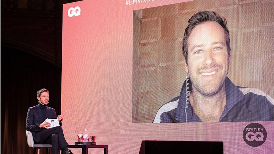 Armie Hammer, British GQ Heroes 2020 Event