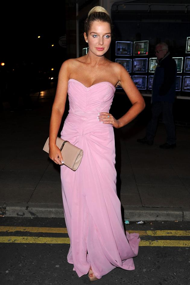 Sexy Helen Flanagan pics: Helen attends the Genesis Ball looking the height of sophistication and class. [Wenn]
