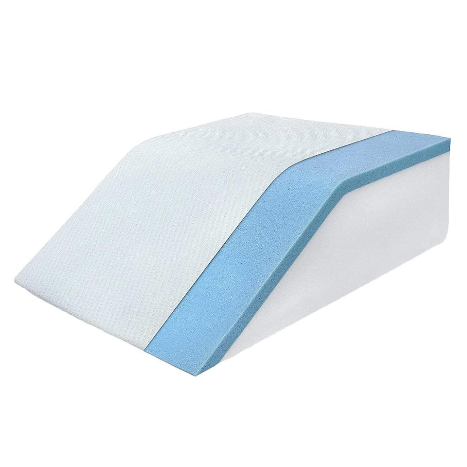 Leg Elevation Pillow with Cooling Gel Memory Foam Top