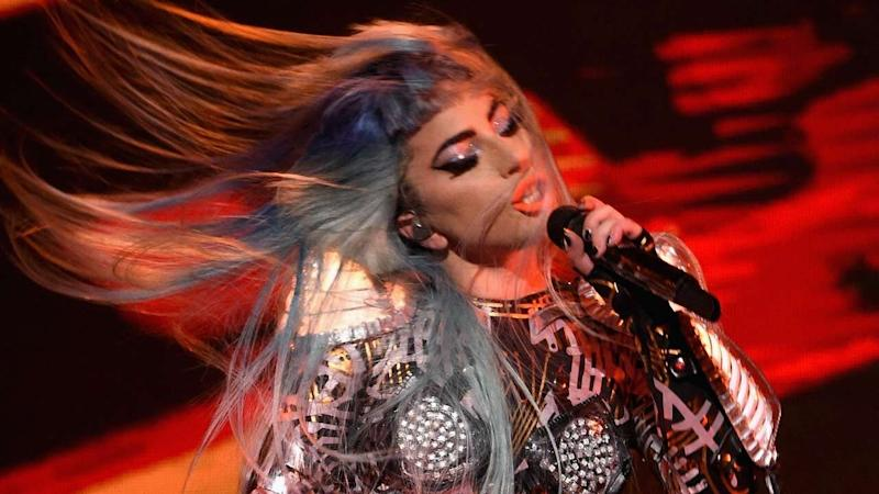 Lady Gaga falls off stage at Las Vegas gig