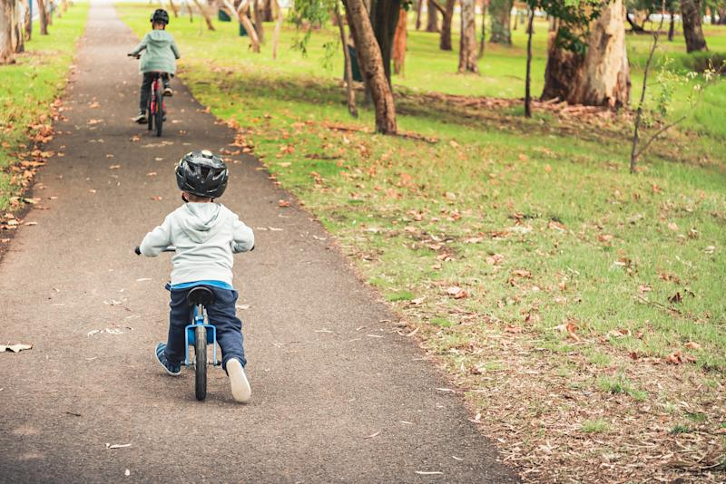 In some states, only children under a certain age are allowed to cycle on footpaths. Source: Getty Images
