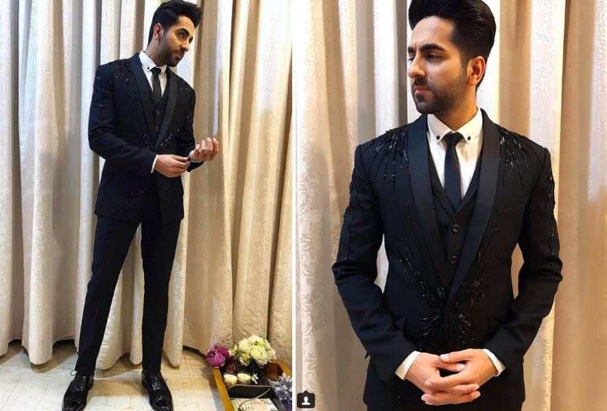 <p>For the same party, Ayushmann brought in his own swag and shimmer by looking dapper in a Gaurav Gupta three-piece suit. </p>