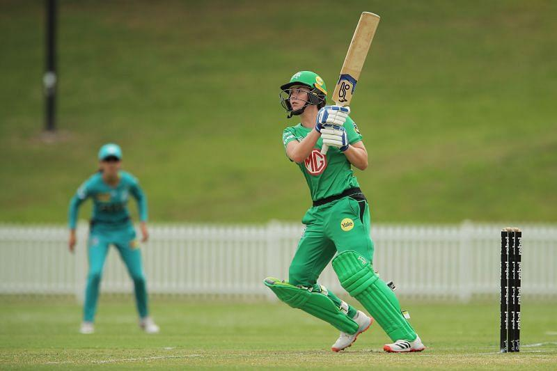 Nat Sciver in action for the Melbourne Stars.