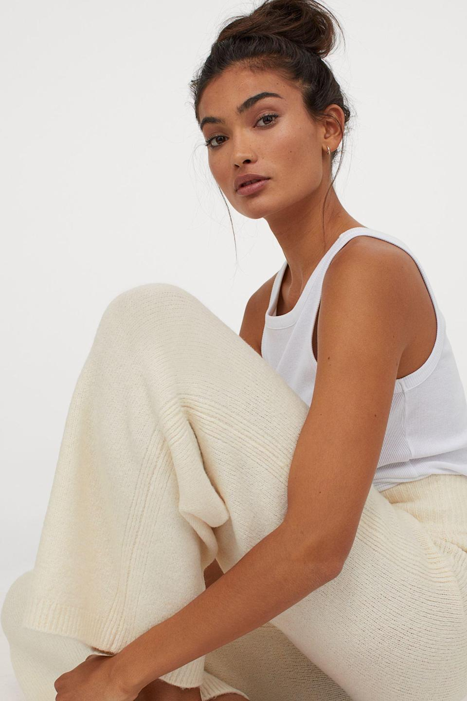 <p>These <span>Knit Pants</span> ($35) look quite chic.</p>