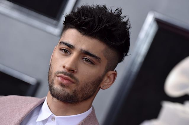 Recording artist Zayn Malik attends the 60th Annual GRAMMY Awards at Madison Square Garden on January 28, 2018 in New York City. (Photo by Axelle/Bauer-Griffin/FilmMagic)