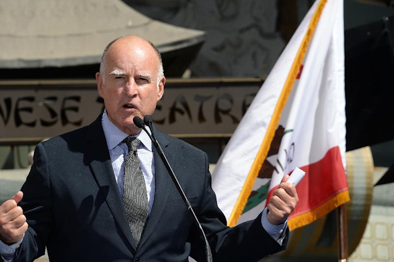 California Governor Jerry Brown, pictured on September 18, 2014, signed the controversial bill letting terminally-ill patients seek a doctor's help ending their lives