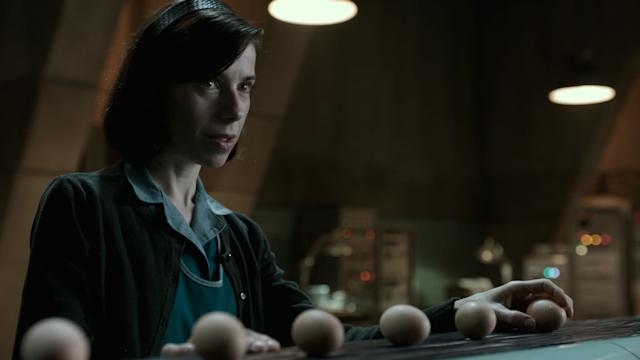 """Sally Hawkins has long been one of those venerated indie actresses awaiting herproper due. """"<span>The Shape of Water</span>"""" could be her bargaining chip. Playing a mute 1960s janitor, Hawkinswears a lifetime of heartbreak on her face. Guillermo del Toro's movie has an old-fashioned sweep that will appeal to young and old Academy voters alike. They've always had a penchant for performances with physical afflictions: Patty Duke, John Mills and Holly Hunter all won for playing mute."""