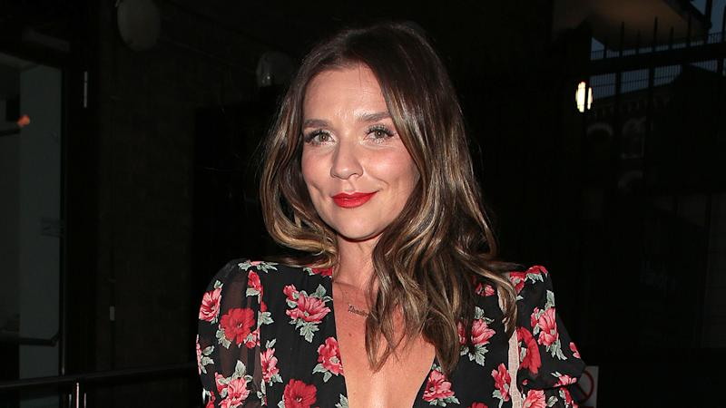 Candice Brown seen attending the Pimm's Summer Garden at Flat Iron Square in July 2019.