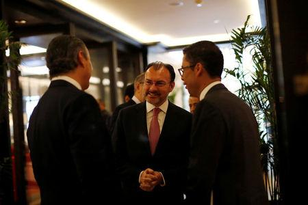 Mexico's Foreign Secretary Luis Videgaray is seen outside  the 9th U.S - Mexico CEO Dialogue in Mexico City, Mexico October 11, 2017. REUTERS/ Carlos Jasso