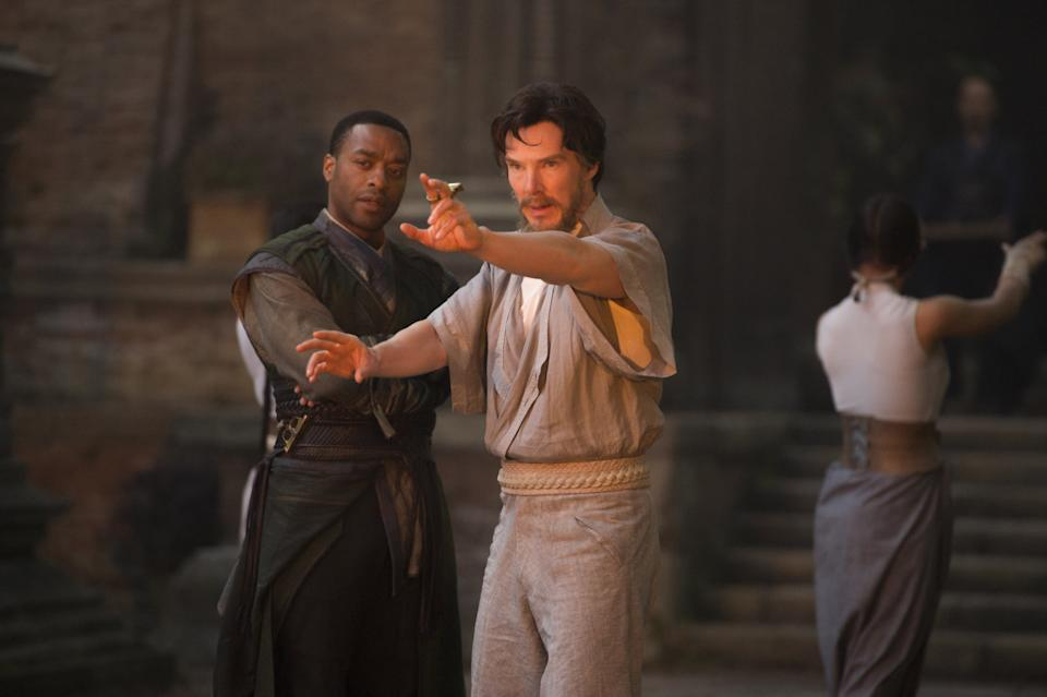 Chiwetel Ejiofor and Benedict Cumberbatch in Doctor Strange. (Marvel Studios/Disney)