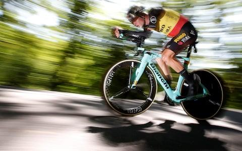 <span>Wout van Aert is one of the favourites to win today's time trial</span> <span>Credit: REUTERS </span>