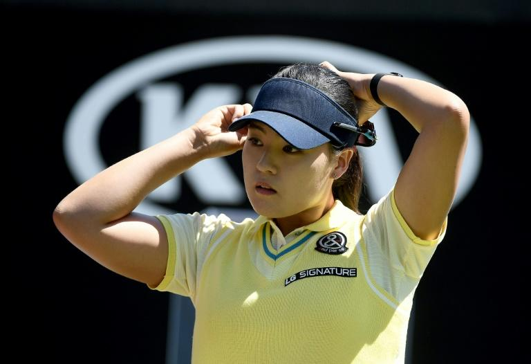 Chun In-Gee of South Korea prepares to tee off during the KIA Classic, at the Park Hyatt Aviara Resort in Carlsbad, California, on March 25, 2017