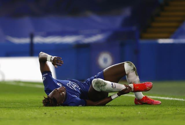 Tammy Abraham was forced off with an ankle injury