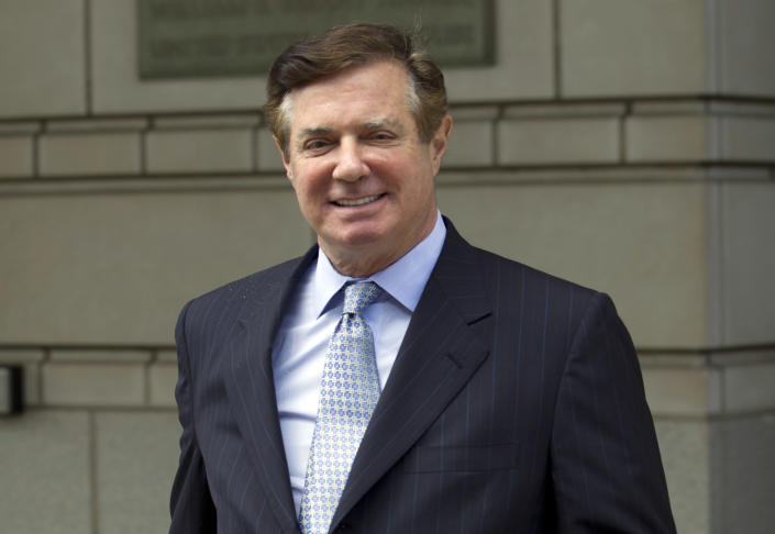 In this May photo, Paul Manafort, President Donald Trump's former campaign chairman, leaves the Federal District Court after a hearing, in Washington. (Photo: Jose Luis Magana/AP)