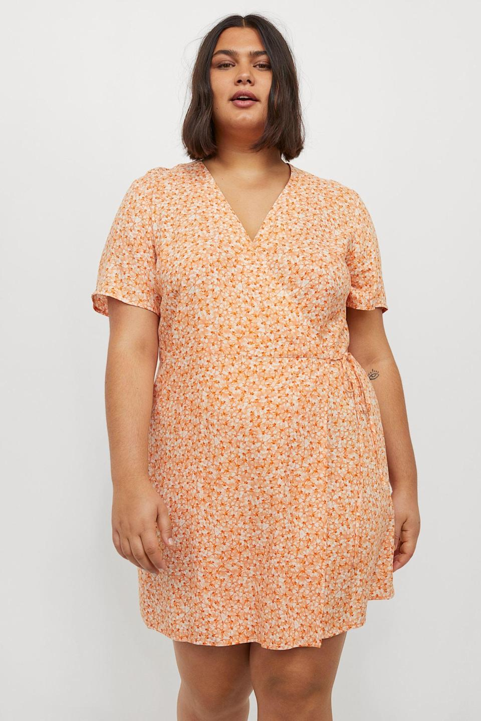 <p>This <span>H&amp;M+ Wrap Dress</span> ($25) will look fresh and modern, when paired with your favorite white Keds sneakers.</p>