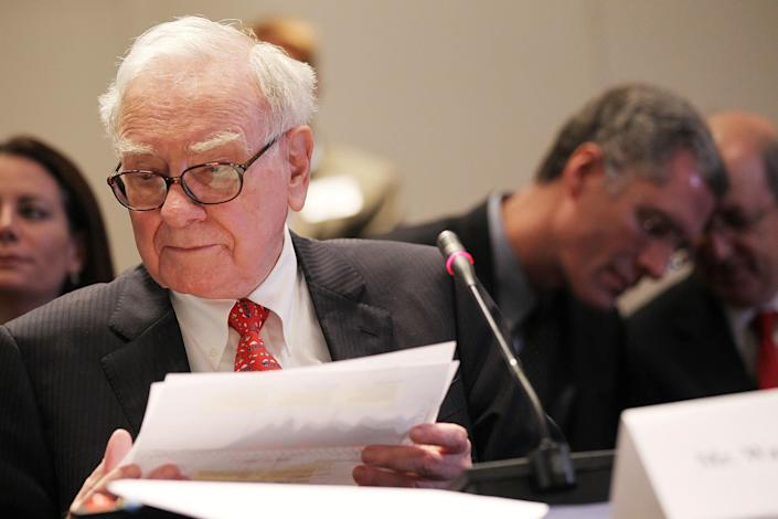 Warren Buffett, Chairman and CEO of Berkshire Hathaway. (Mario Tama/Getty Images)