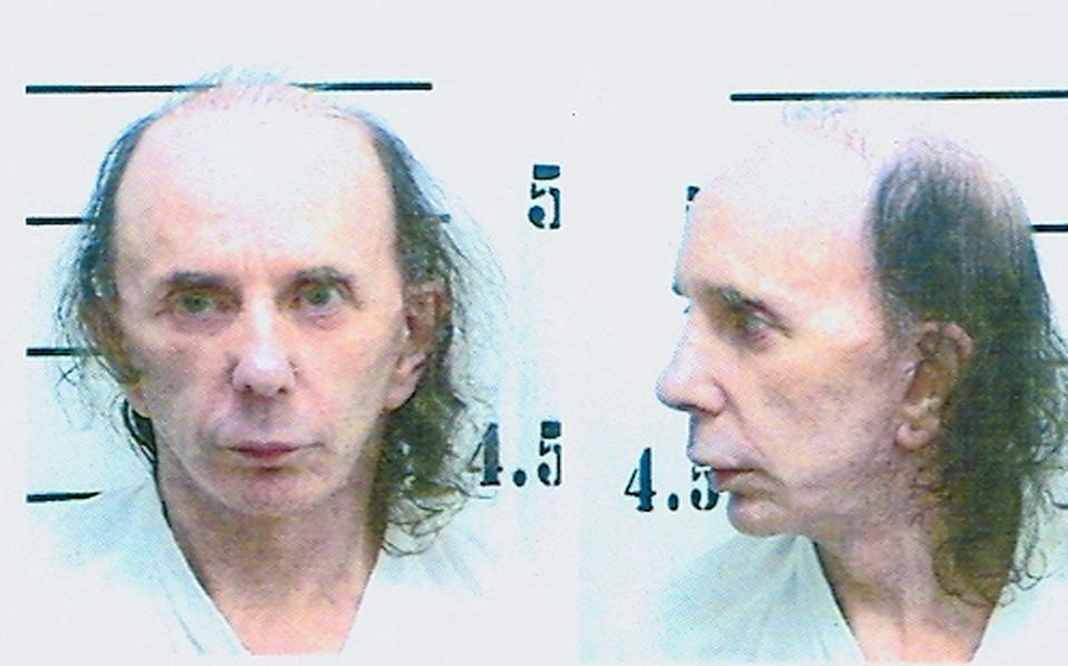 Spector in his mugshot photo on June 5, 2009, after being found guilty of murderingLana Clarkson. (Photo: Handout via Getty Images)