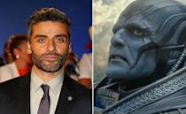 <p>Under all this was The Force Awakens star playing the ancient En Sabah Nuh, aka Apocalypse. </p>