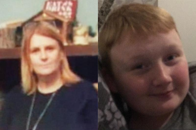 Anne Kerr, 50, and Joe Cairns, 14, who died in a crash on the M58.