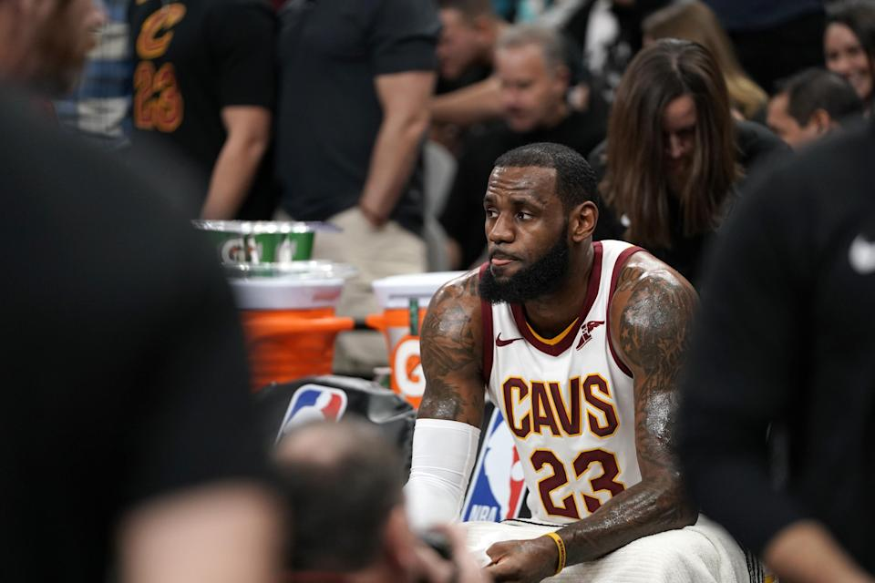 LeBron James takes it all in. (Getty)