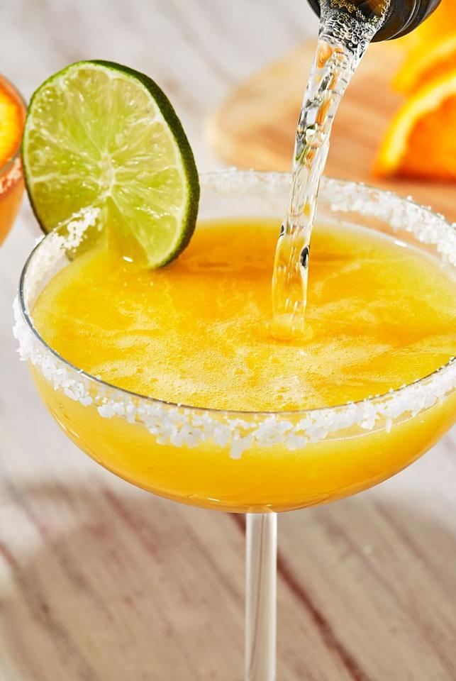 "<p>Mimosa Margaritas are the best combos between the two cocktails. Orange juice and champagne spiked with tequila and some juice for extra zest! </p><p>Get the <a href=""https://www.delish.com/uk/cocktails-drinks/a32233202/mimosa-margaritas-recipe/"" target=""_blank"">Mimosa Margaritas</a> recipe.</p>"