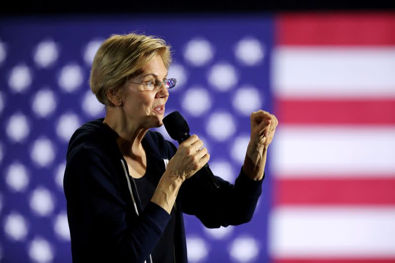 Democratic presidential candidate Warren proposes 'Blue New Deal' to protect oceans