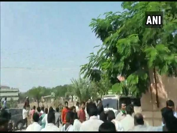 Visuals from clash site in Tadipatri, Anantapur (Photo/ANI)