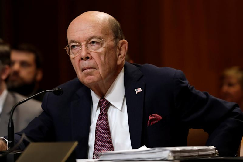 U.S. Commerce Secretary Wilbur Ross testifies before a Senate Commerce Justice Science and Related Agencies Subcommittee in Washington
